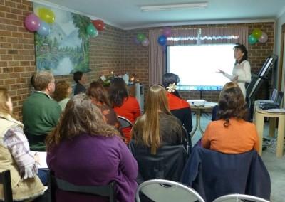 Intuitive Healing workshop. ACT. October, 2014
