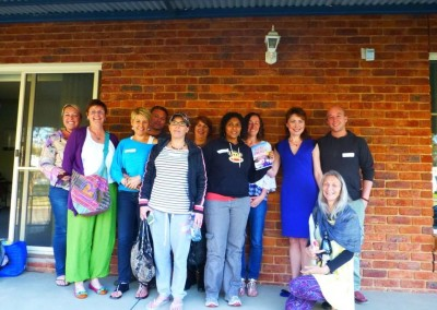With Intuitive Healers of Wagga Wagga after the workshop. September, 2015